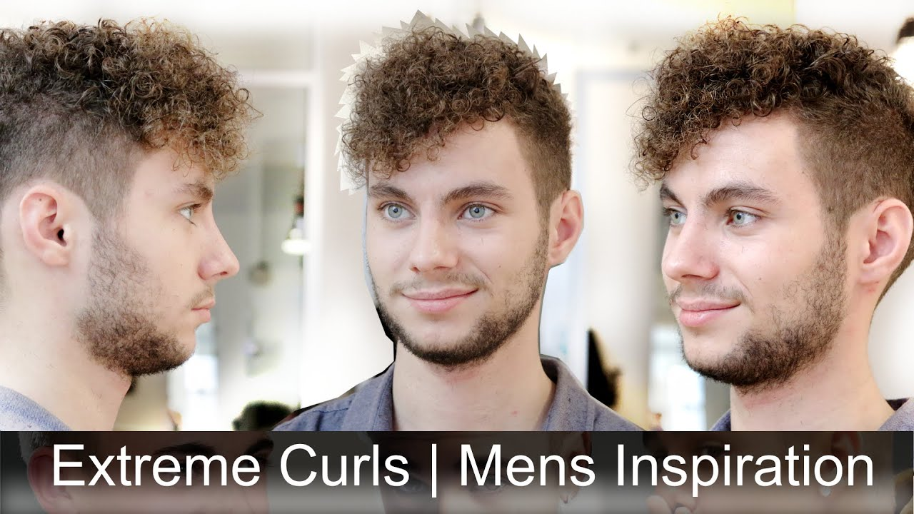 Extremely Curly Hair Mens Haircut Inspiration