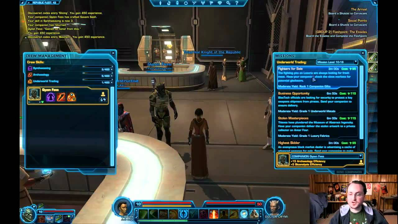 Star Wars The Old Republic Crafting Skills