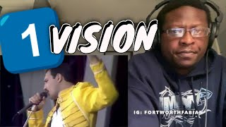 HIP HOP FAN'S FIRST TIME WATCHING Queen - One Vision (Live at Wembley) | QUEEN REACTION