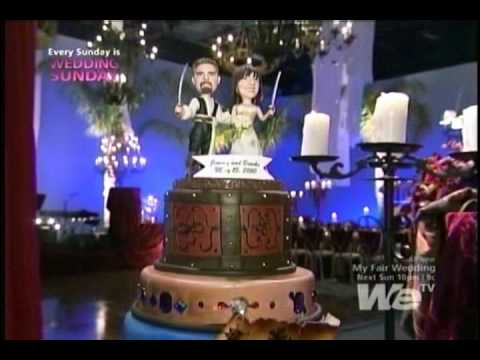 We TV My Fair Wedding Pirate Bride Cake Topper  YouTube