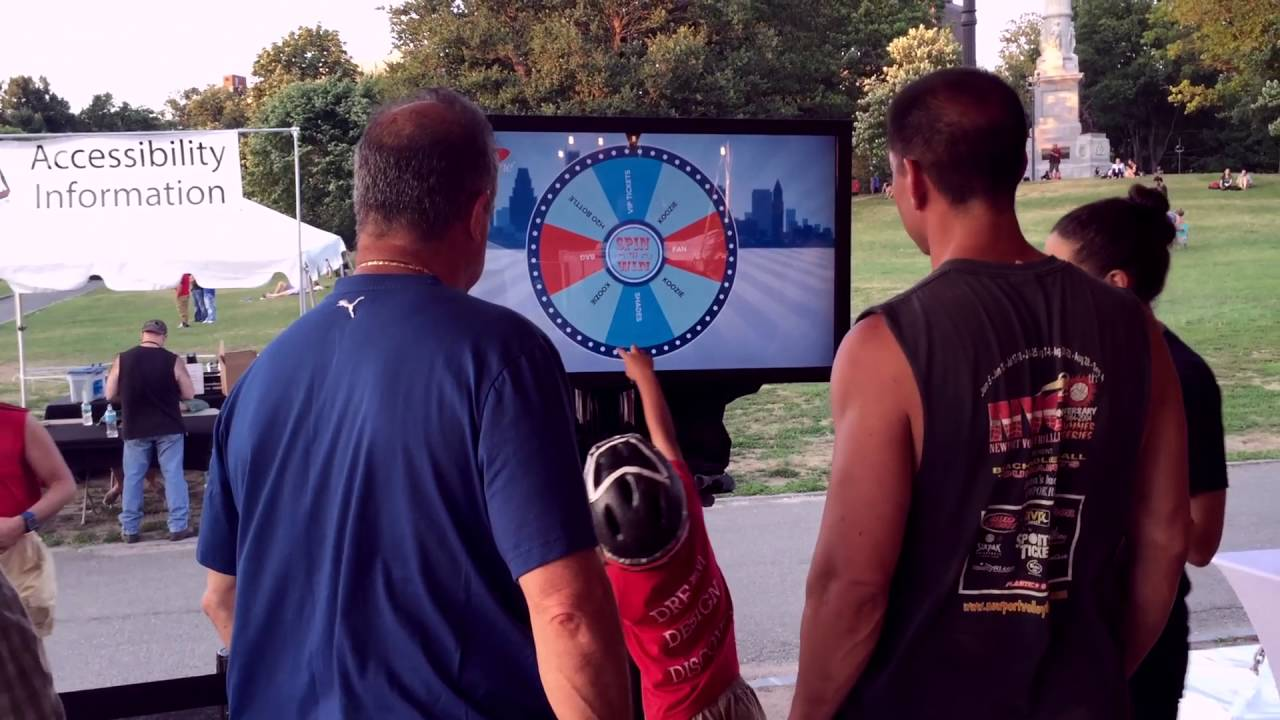 Spin to Win Custom Touchscreen Application For Tradeshows and Events