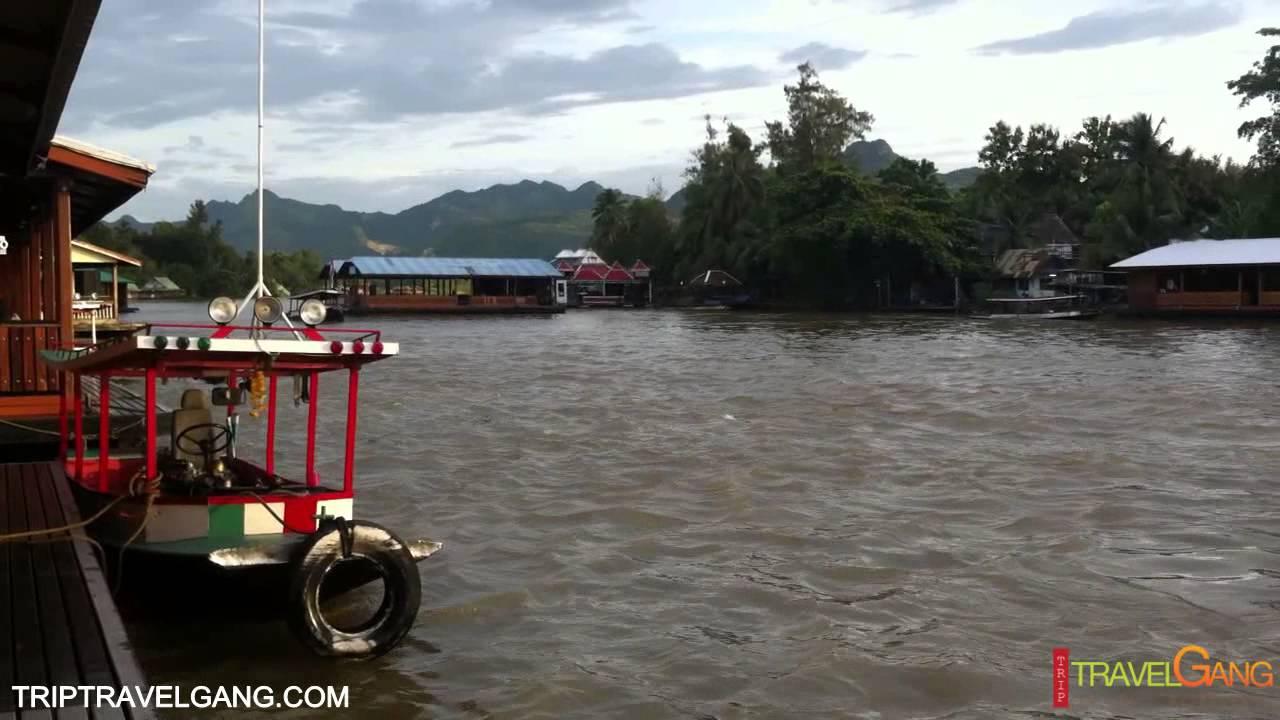 ล่องแพกาญจนบุรี จ.กาญจนบุรี อากาศดี วิวสวยมากๆ Kanchanaburi Thailand