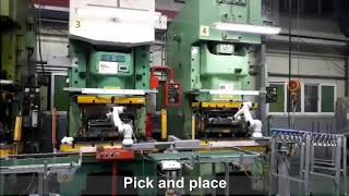 Industry 4.0 Elfin collaborative robot for pick and place with industrial machines