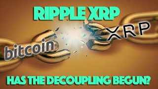 Ripple XRP Up 16% To BTC's 0.86% Since Last Month. Has The Decoupling Begun?