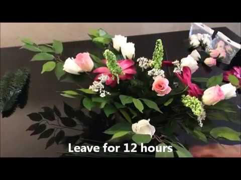 Jak Zrobic Stroik Na Grob Kompozycja Kwiatowa Sztuczne Kwiaty Artificial Flowers Composition Diy Youtube