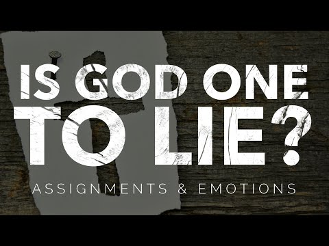 Is God one to lie?