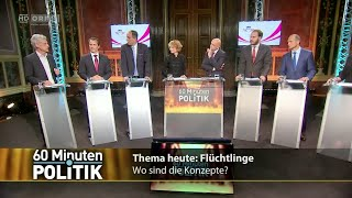 60 Minuten.Politik - Flüchtlinge - Wo sind die Konzepte - 30.10.2015