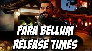 Para Bellum RELEASE TIMES! PC PS4 Xbox One Rainbow Six Siege R6