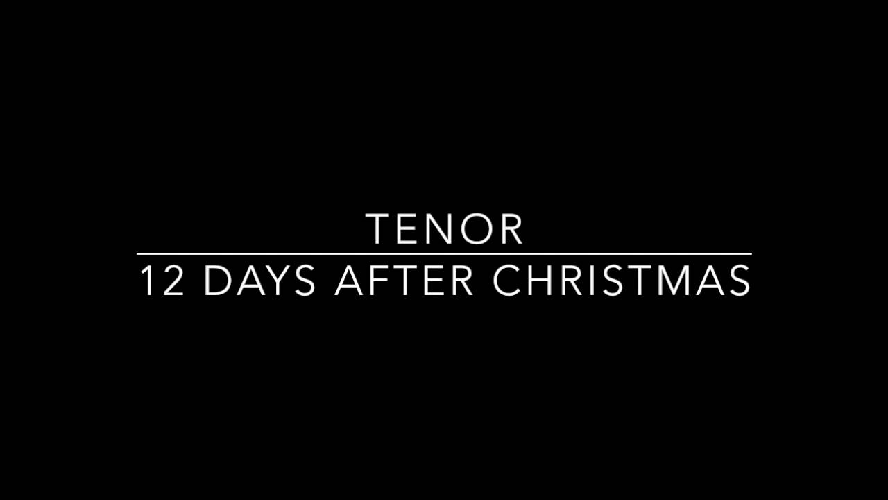Twelve Days After Christmas - T - YouTube