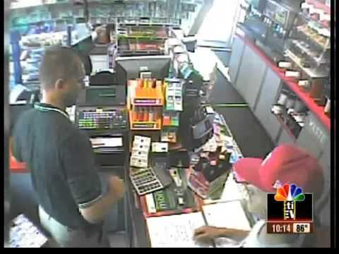 Man robs BP station, former Marine fights back