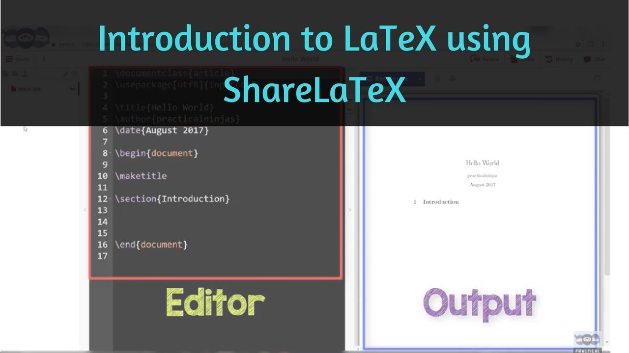 Learn Using ShareLaTeX