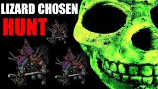 tibia hunt lizard chosen para level baixo e para level alto