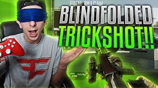 I HIT A BLINDFOLDED TRICKSHOT!! | FaZe Rug