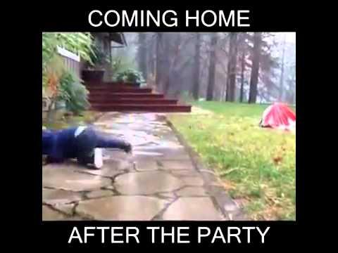 Wenn du besoffen nach Hause kommst :D - YouTube