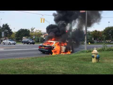 CAR ON FIRE!!! Long Island N.Y.