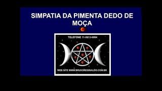 SIMPATIA DA PIMENTA DEDO DE MOÇA