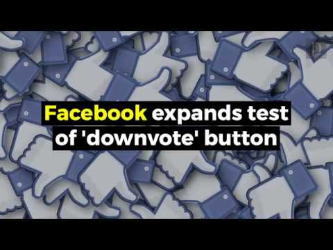 Facebook 'downvote' button in new test