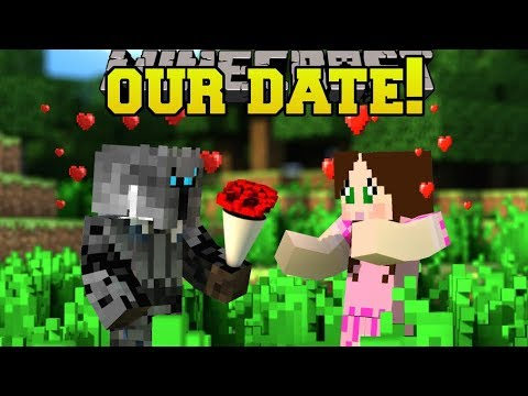 Minecraft: PAT & JEN VALENTINE'S DAY DATE!!! - Find The Button Your Valentine - Custom Map