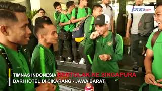 Timnas Indonesia Bertolak ke Singapura