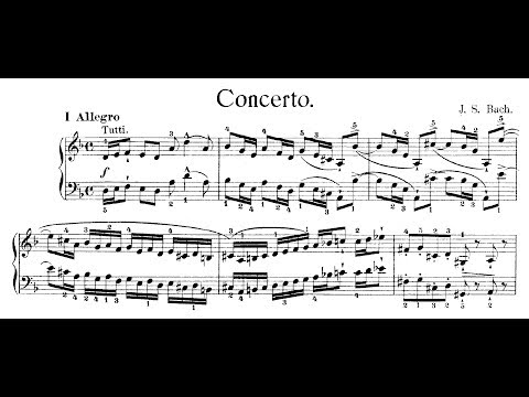 Bach: Keyboard Concerto in D Minor, BWV 1052 (Bahrami, Dinnerstein)
