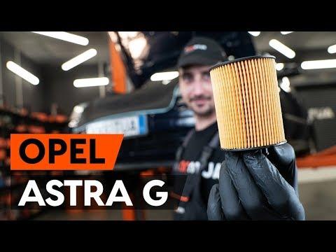 Как заменить моторное масло и масляный фильтр на OPEL ASTRA-G CC 1 (F48_,F08_) [ВИДЕОУРОК AUTODOC]