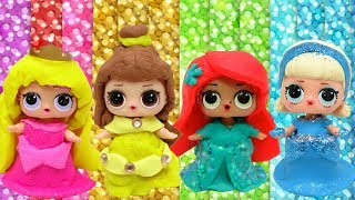 Play Doh DIY L.O. L Makeup Disney Princess Ideas Learn How To Make Princess Custom Dress