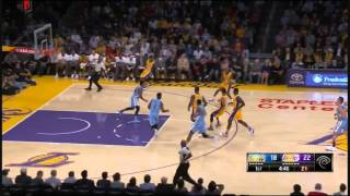 Kobe Bryant Airballs Two 3 Pointers vs Denver Nuggets