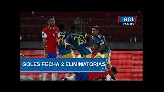 Eliminatorias Sudamericanas Catar 2022, resumen de goles en la Fecha #2