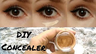 How To Make Your Own Homemade Concealer|DIY Concealer| Using Only 3 products|Quick & Easy|