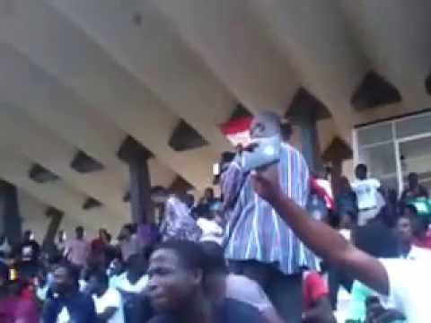 an Egyptian fan cheering on his team at Paa joe stadium with Ghanaian