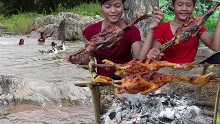 Survival skills: Yummy water duck spicy tasty cooking for Lunch food ideas - My Natural Food ep 62
