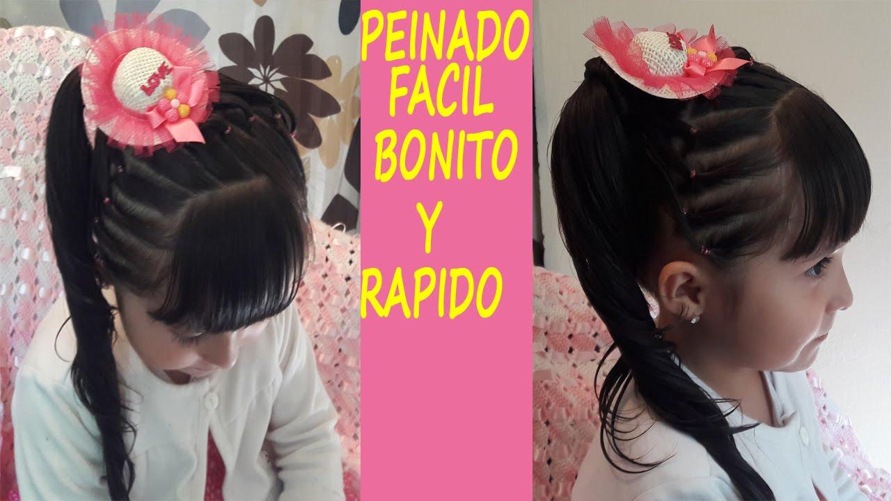 Peinado con ligas para ni as facil bonito y rapido youtube - Peinados bonitos para ninas ...