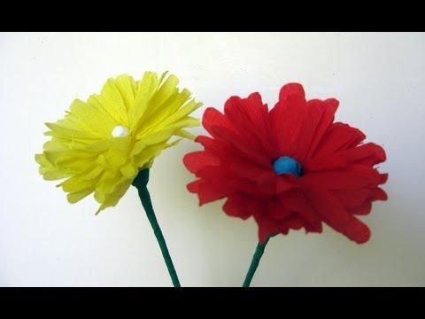 C mo hacer una flor de papel manualidades para todos - Como hacer manualidades de papel ...