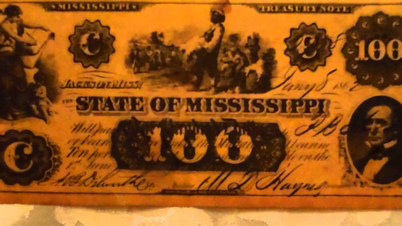 The State Of Mississippi 100 Dollar Treasury Note