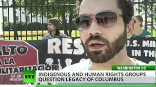 Columbus day in US sees celebration and protest