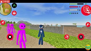 Update Amazing Black Spider Stickman Rope Hero Vice City Update Android Game Play