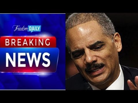 ERIC HOLDER'S REACTION TO ROBERT MUELLER'S INDICTMENT PROVES THE LEFT IS DESPERATE!