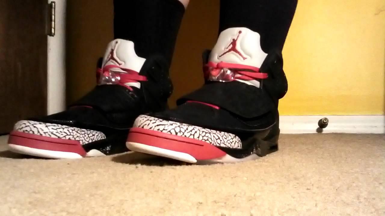 Air Jordan Son of Mars bred on feet