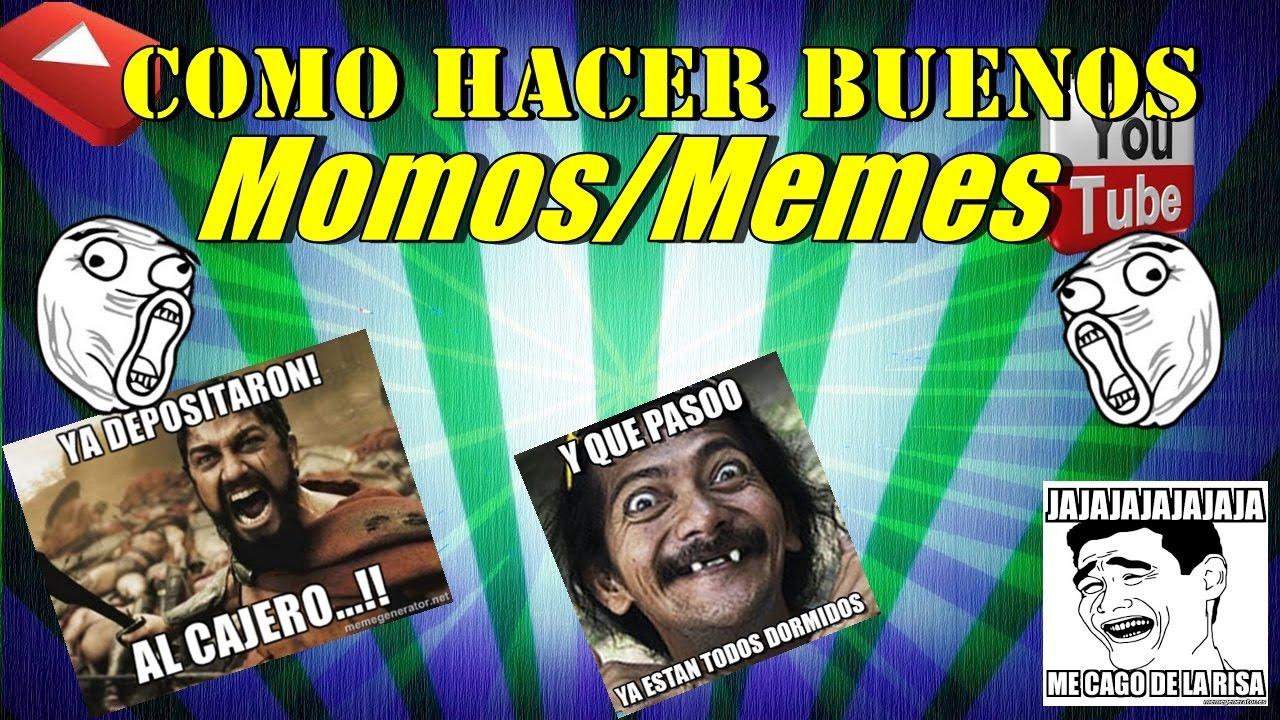 COMO HACER BUENOS MEMES/MOMOS PARA FACEBOOK EN PC 2017