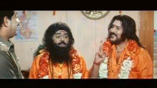 Jaggesh and Ravichandran in Swamiji Getup | Kannada Comedy Scenes | Nee Tata Naa Birla