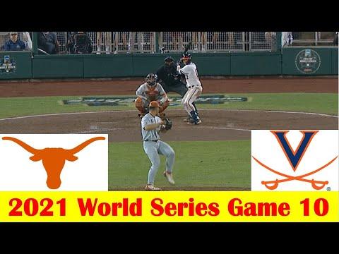Virginia vs #2 Texas Baseball Game Highlights, 2021 World Series Game 10  