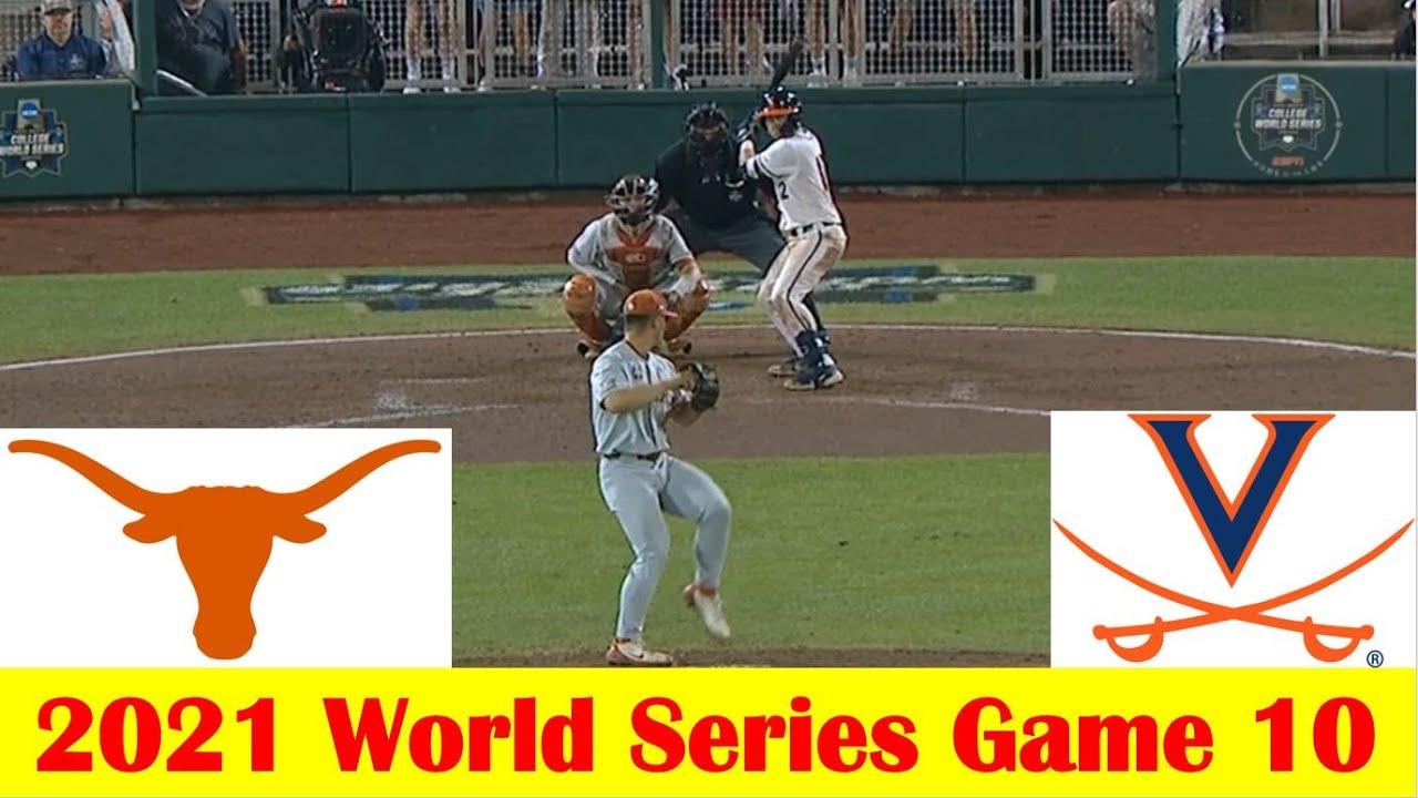 Download Virginia vs #2 Texas Baseball Game Highlights, 2021 World Series Game 10