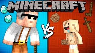 Old Pro vs. Baby Noob - Minecraft