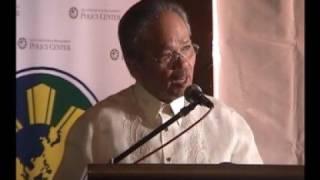 ChannelOne.TV shows Chief Justice Artemio V. Panganiban (51st Globalization Speech Part 4/6)