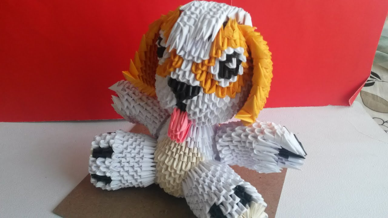 PERRO DE ORIGAMI 3D - YouTube - photo#7