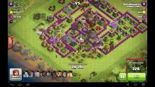 Clash of Clans Kriegsreport und meine neue push taktik