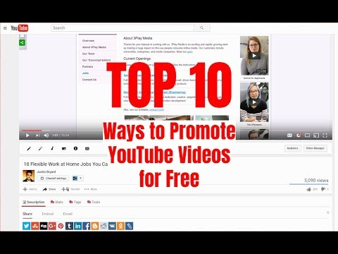 Top 10 Ways to Promote YouTube Videos for Free