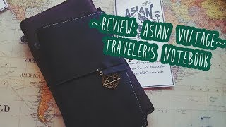 ~Review: Asian Vintage Travelers Notebook~