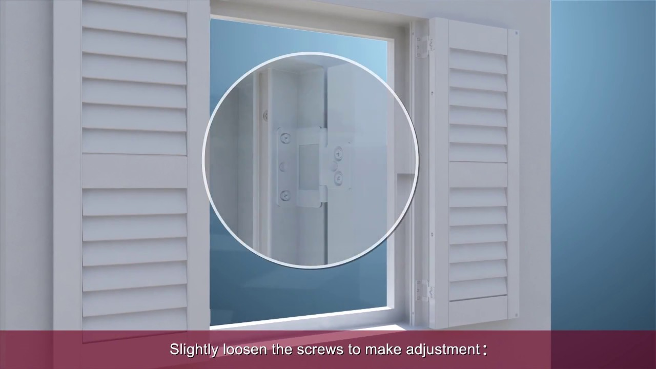 How To Install Hang Strip Inside Mount Shutters Youtube