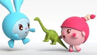 Малышарики -Большой друг - серия 99 - обучающие мультфильмы для малышей 0-4 - о динозаврах